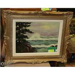 ORIGINAL PAINTING IN ANTIQUE FRAME BY HAYES