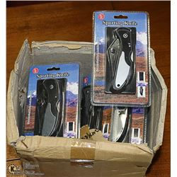 CASE OF 12 SPORTING KNIVES