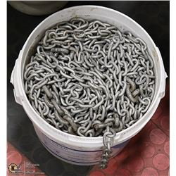 PAIL OF CHAIN FULL