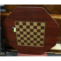 TWO SIDED TEAK BOARDGAME 1970'S