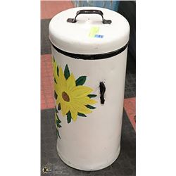 VINTAGE HAND PAINTED FLOUR CAN