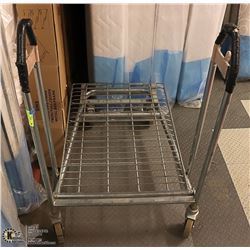 """STAINLESS STEEL CART ON CASTORS SIZE 30"""" X 26""""WIDE"""