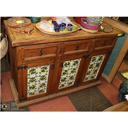 SPANISH STYLE SIDEBOARD-AWESOME DRAWER PULLS