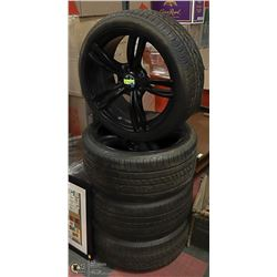 SET OF 4 TIRES ON RIMS, 245 40R/20
