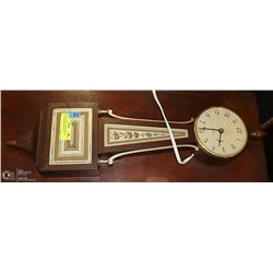 VINTAGE SETH THOMAS BANJO CLOCK WORKS PERFECTLY