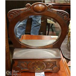 EUROPEAN ANTIQUE MIRROR AND CABINET