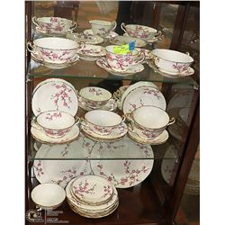 SET OF CHERRY BLOSSOM DISHES FOR EIGHT