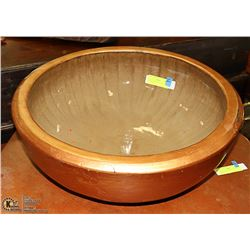 "VERY LGE COPPER COLORED BASIN 21"" ACROSS"