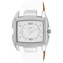 NEW DIESEL WHITE DIAL/WHITE LEATHER BAND MSRP$249