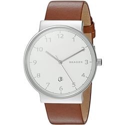 NEW SKAGEN OF DENMARK 40MM LEATHER DIAL MSRP $209