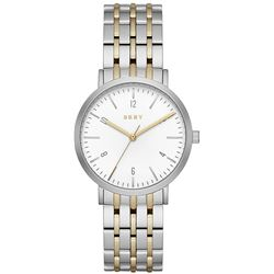 NEW DKNY WHITE DIAL TWO-TONE 36MM MSRP $236