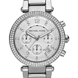 NEW MICHAEL KORS TRIPLE CHRONO WHITE DIAL MSRP$369
