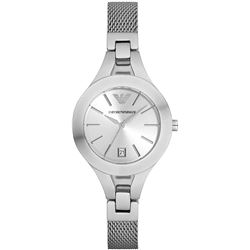 NEW ARMANI 29MM SILVER DIAL ST. STEEL MSRP $269
