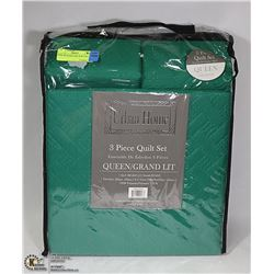 NEW 3PC QUEEN SIZE QUILT SET