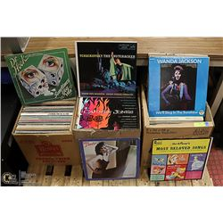PALLET OF ASSORTED ROCK, POP, COUNTRY AND MORE LPS