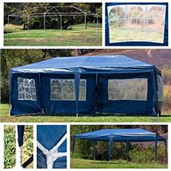 NEW BLUE 10'X20' WEDDING PARTY EVENT TENT