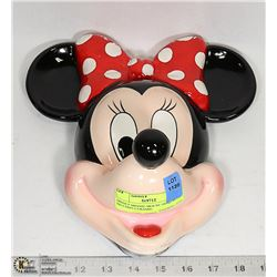 DISNEY MINNIE MOUSE HEAD BUST NO CHIPS CERAMIC
