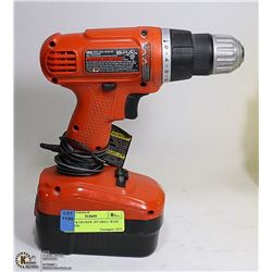 BLACK & DECKER 18V DRILL WITH CHARGER