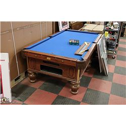 DELUXE COIN OPERATED SLATE TOP POOL TABLE