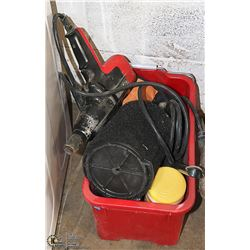 PAIL WITH ASSORTED TOOLS AND SHOP SUPPLIES