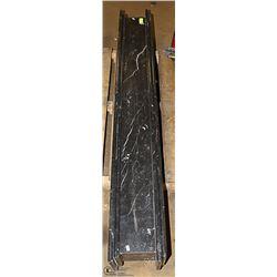 BLACK MARBLE SHELF 63 X 9 X 7-1/2