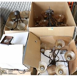 PALLET OF BRAND NEW LEVICO CHANDELIERS & LIGHT