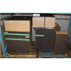 8 PCS UNUSED KITCHEN UPPER AND LOWER CABINETS