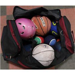 BAG OF SPORTS BALLS