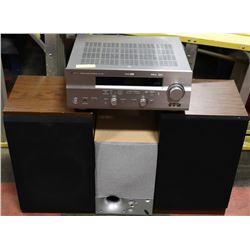 YAMAHA RECEIVER,ENERGY SUBWOOFER,TWO SPEAKERS