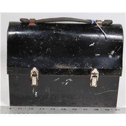 GSW WORKMANS LUNCH PAIL 1940S- METAL WITH LEATHER