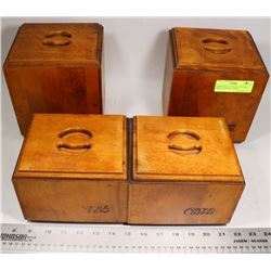 BARIBO MAID CANADA VINTAGE 1960S CANISTERS -MAPLE