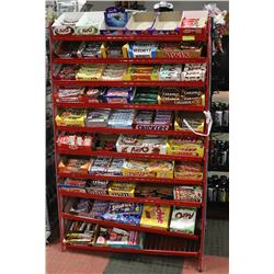 DISPLAY RACK WITH CHOCOLATE BARS & CANDY