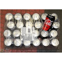 FLAT WITH 24 CANS COCA COLA ZERO  PAST BEST