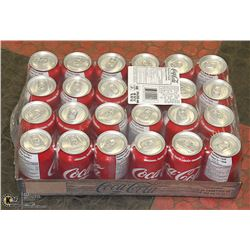 FLAT WITH 24 CANS COCA COLA CLASSIC  PAST BEST