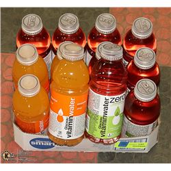 FLAT OF 12 ASSORTED VITAMIN WATER PAST BEST BEFORE