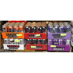 LOT WITH 6 CASES OF ROCKSTAR ENERGY DRINKS