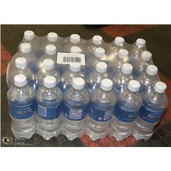 CASE WITH 24 BOTTLES AQUAFINA WATER  PAST