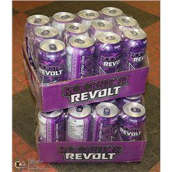 2 CASES OF 12 ROCKSTAR GRAPE ENERGY DRINKS