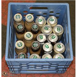 MILK CRATE OF STAR BUCKS ICE DRINKS AND MORE