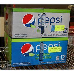 2 CASES OF PEPSI LIME AND DIET PEPSI LIME PAST