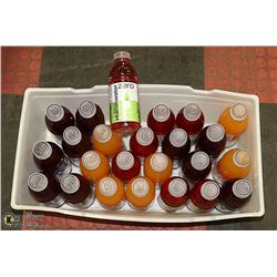 BOX OF ASSORTED VITAMIN WATER PAST BEST BEFORE