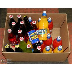 BOX OF ASSORTED BEVERAGES PAST BEST BEFORE