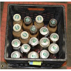 CRATE OF ASSORTED STARBUCKS COFFEE DRINKS PAST