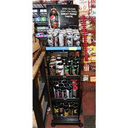 PEPSI RACK WITH ROCKSTAR ENERGY DRINKS