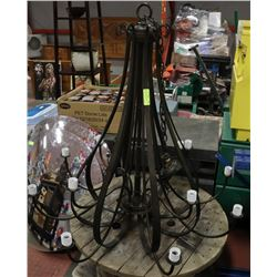 LARGE METAL CHANDELIER WITHOUT LEN OR GLASS