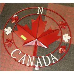 METAL CANADA WALL ART