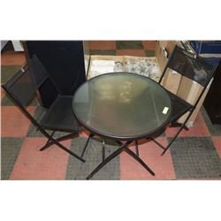 """PATIO TABLE & 2 CHAIRS 28"""" DIAMETER"""