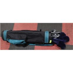 SET OF NORTH WESTERN GOLF CLUBS IN BAG