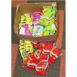 BOX OF BAGGED CANDY