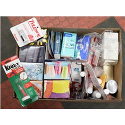 BOX OF NEW OTC PHARMACY TYPE ITEMS